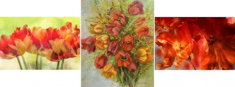 Triptychon - Fotografie und Acryl auf Leinwand